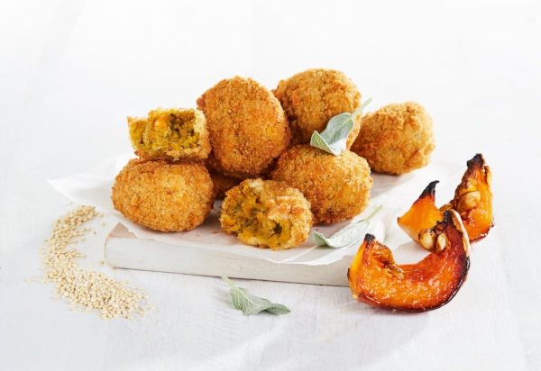 The perfect Christmas starter with no fuss: Fry's Artisan Chickpea and Roasted Butternut Balls - It's good to cook a few things from scratch on Christmas day but when something is as delicious as these balls, buy then pre-made! You can make your own dipping sauce and nobody will know. £2.75