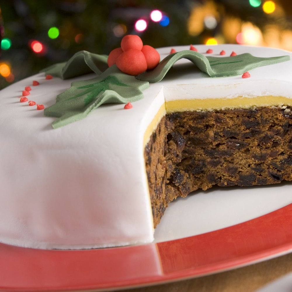 Time for sweets…Vegan and Gluten-Free Christmas Cake - Gone are the days when vegans had to go without Christmas cake. £35