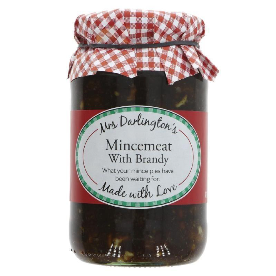 Mince Pie DIY: Mrs Darlington's - Mincemeat with Brandy - Why not make your own mince pies? It's easy, fun and this mincemeat is delish! £2.59