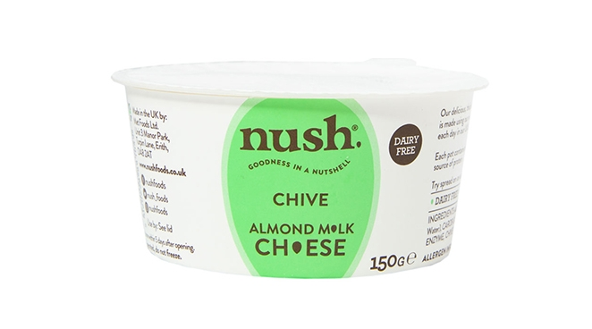 Spread the Love: Nush Almond Milk Cheese - This spreadable vegan cheese made from almond milk is just delicious. Serve with biscuits, nuts, herbs and a chutney. £3.50