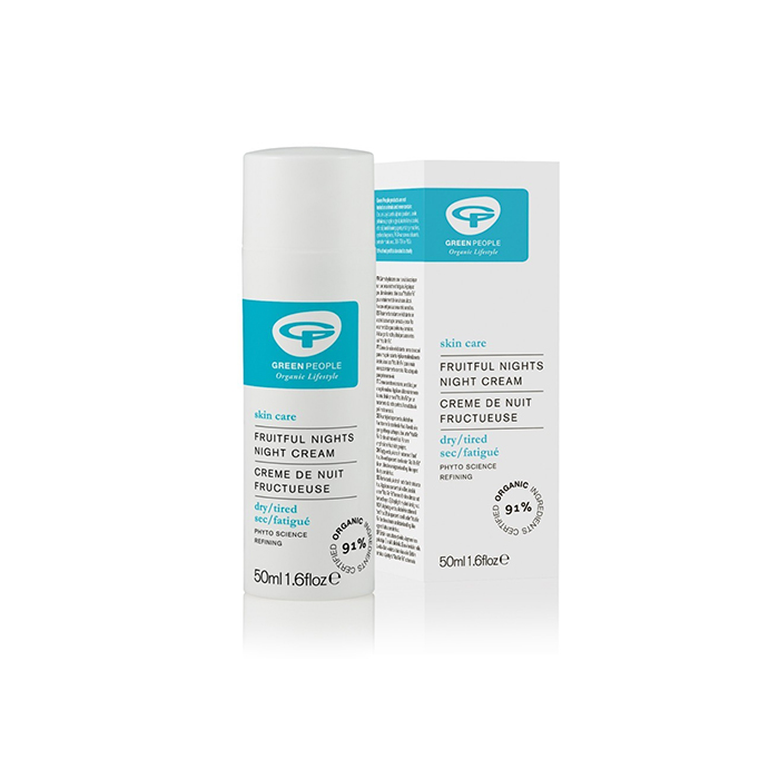 Green People Fruitful Nights Night Cream - Natural and organic brand Green People's Fruitful Nights Night Cream is brilliant on dry, ageing and flaky skin and particularly suitable in dry or cold weather.