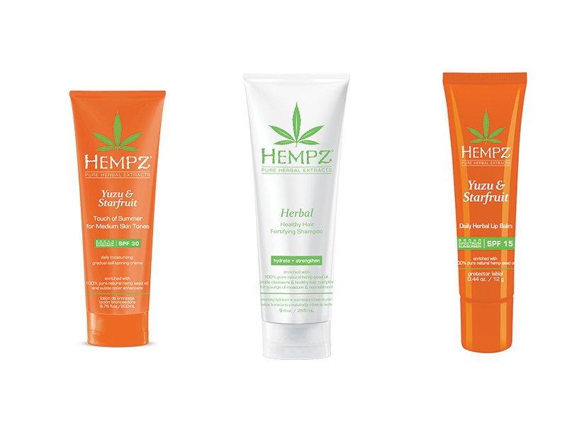 Hempz - Beauty brand Hempz uses hempseed oil in everything, from moisturisers to haircare, lip balms to sunless tanning lotions. If you are after softness, this brand is for you.