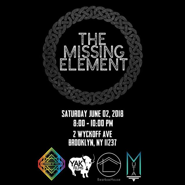 Breaking, DJing, Graffiti, MCs And Beatbox all come together for this totally immersive experience! Come through this Saturday to find out #themissingelement