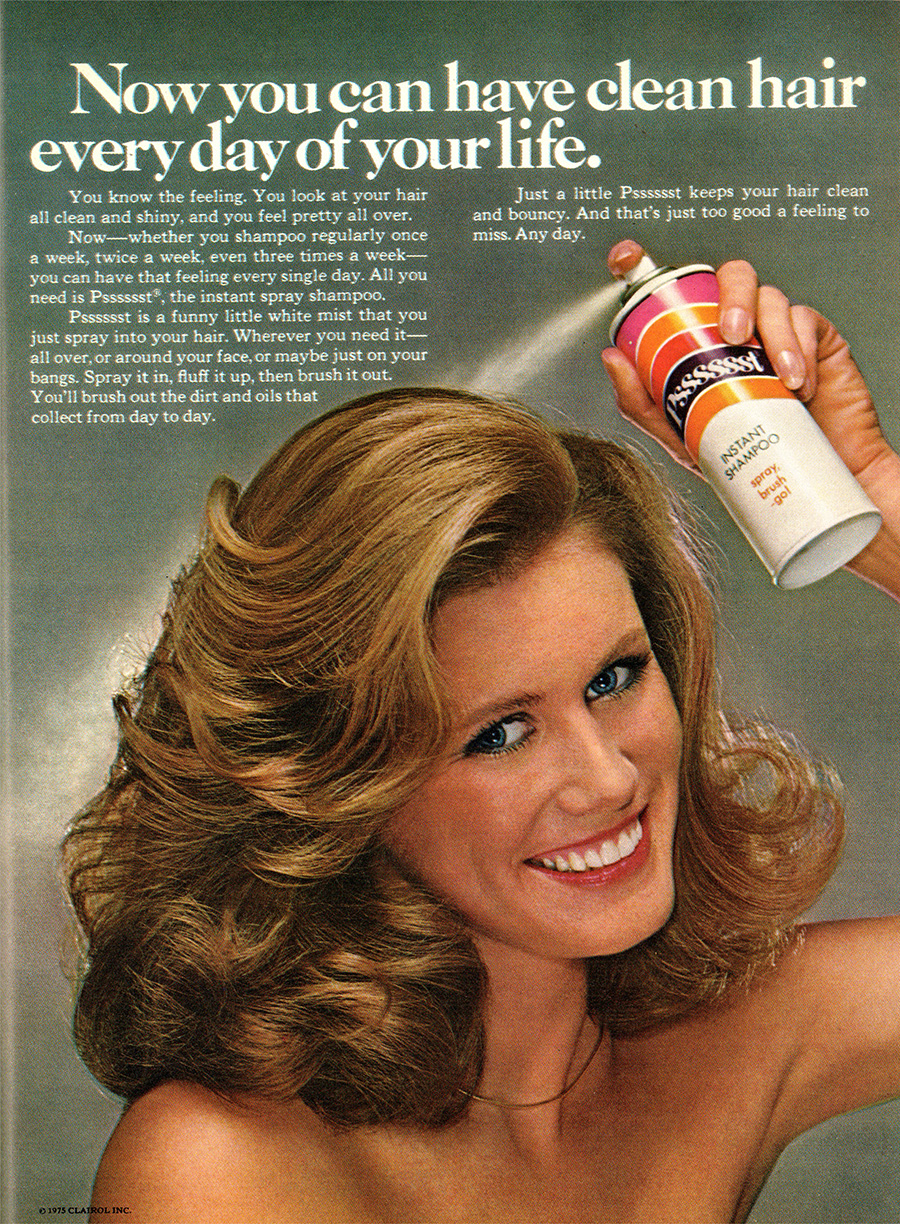 Who needs ozone when you can completely miss your hair by spraying behind your head!