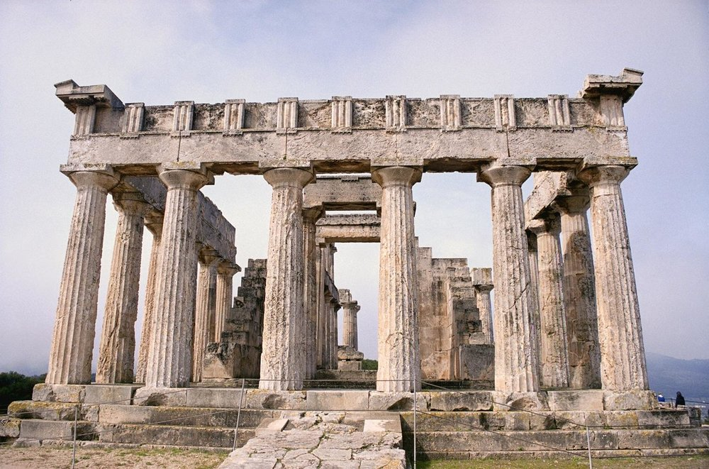 Temple of Aphaea on the island of Aegina; built in the Doric style. I visited this site in September 2017.