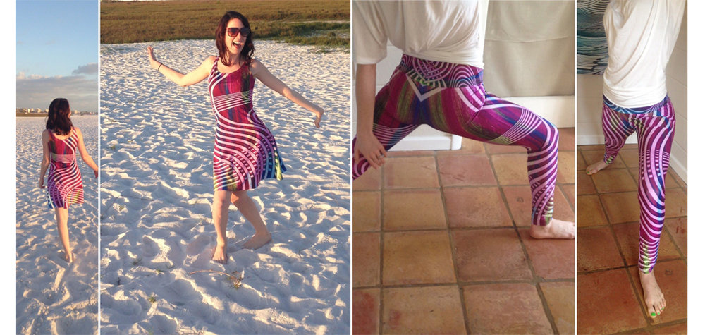 - Jenna wearing the Woohoo! flare dress and yoga leggings