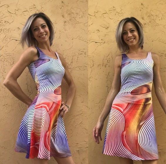 Empower flare dress