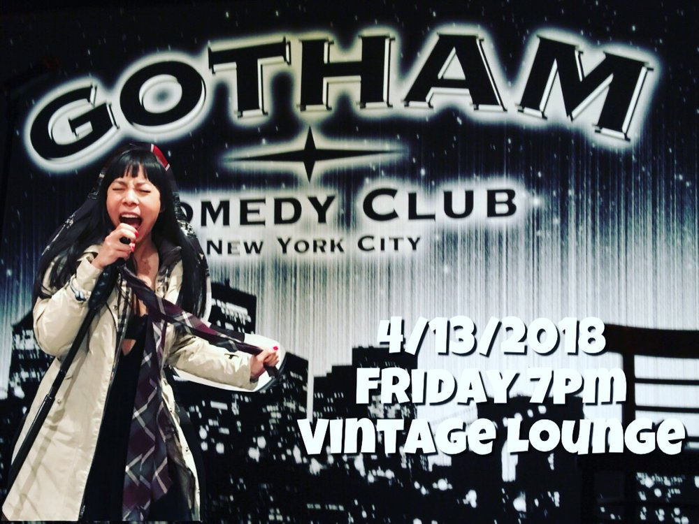 Gotham Comedy Club Vintage Lounge 04/13/2018 Friday 7pm For Tickets:http://gothamcomedyclub.com/showsCalendar.cfm