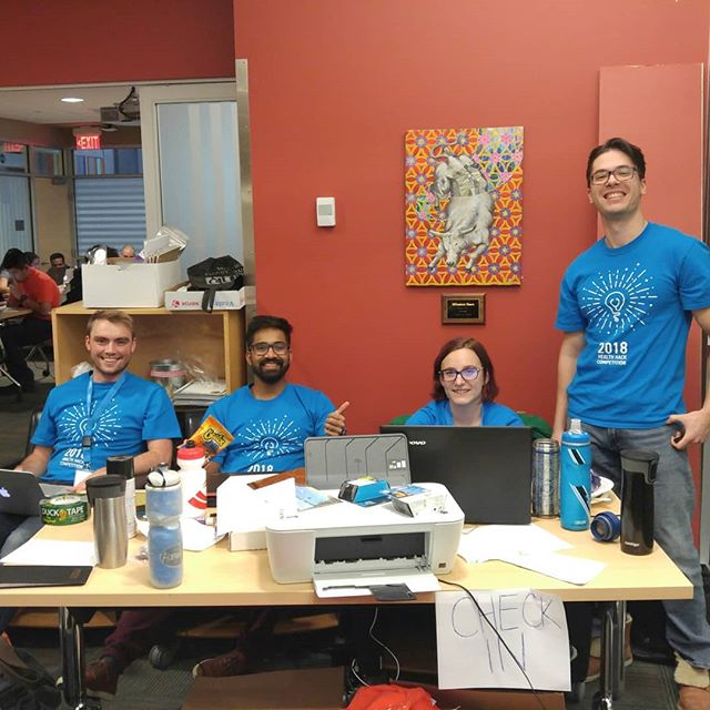 Sunday is a fun-day... to innovate! Big progress on prototypes and  pitches today! Only a few teams are left putting the final touches on their projects. #healthhackcompetiton #i4h_calgary #i4h
