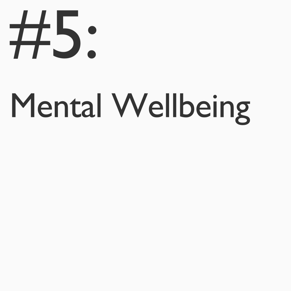 Our mental health plays a significant role in our ability to enjoy a happy and productive life. Utilizing public demographic data, interactions with digital devices and social media, for example - what insights can be discovered to reinvent how support for mental wellbeing or stress-related issues are addressed?