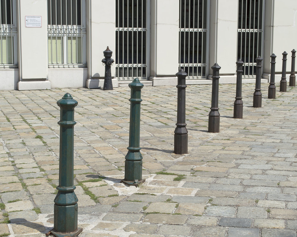 Hydrant and Bollards, Vienna, Austria