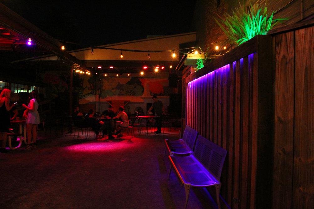 Backyard at Night time