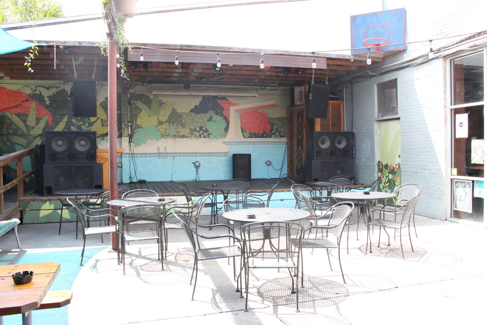 Backyard Stage and dance floor