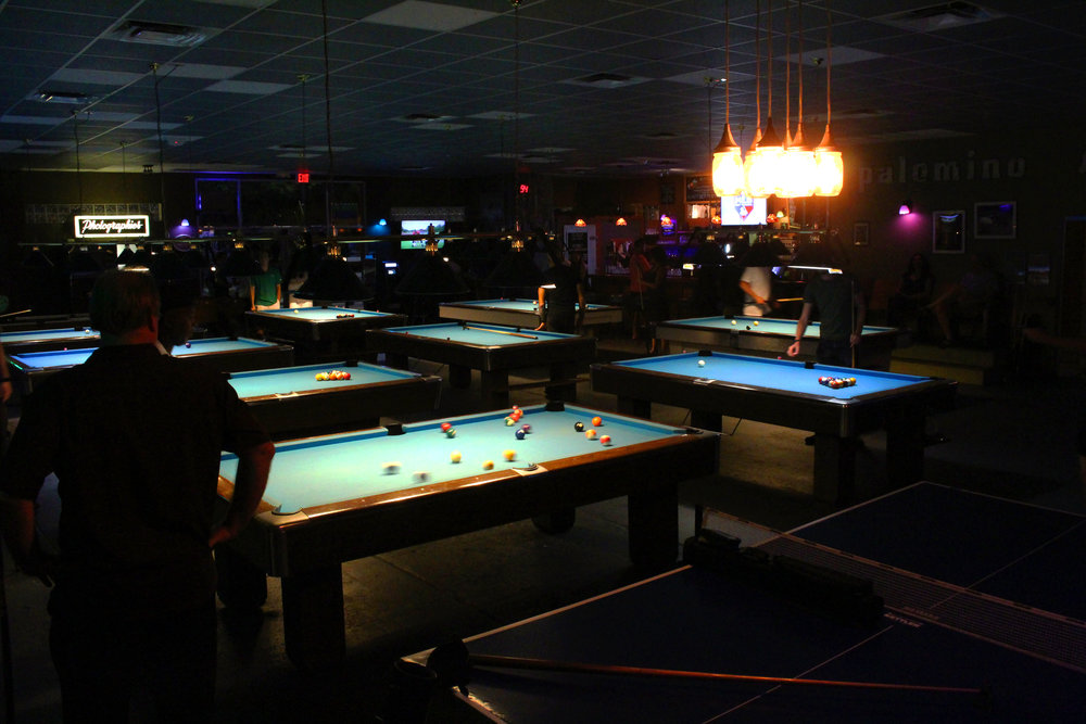 Palomino Pool table and Restrooms