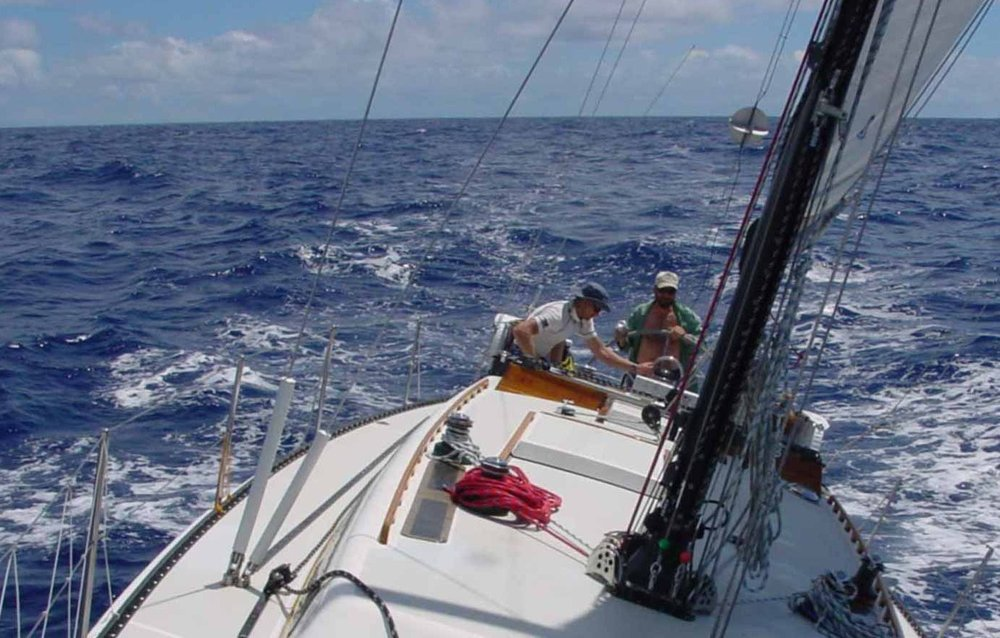 "52-foot Santa Cruz sloop ""Mystic"",en route to Seattle from Maui"