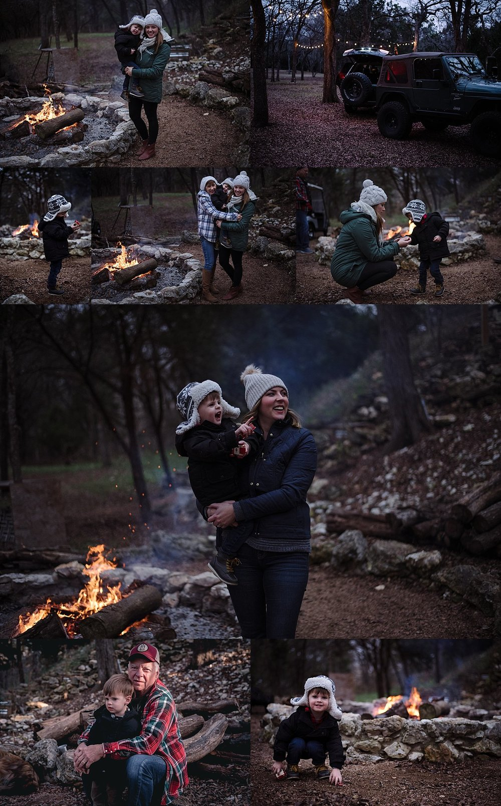 Pictures from our time last week with family in Texas. Some of my greatest memories are with my family around the fire. Whenever we're reunited I guarantee you will find us all gathered around our families fire pit. I loved capturing Levi playing around the fire and enjoying something I cherish so much.