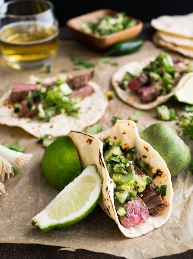 The Tish Kitchen | Blueberry Salsa on Steak Tacos | Food Blogger