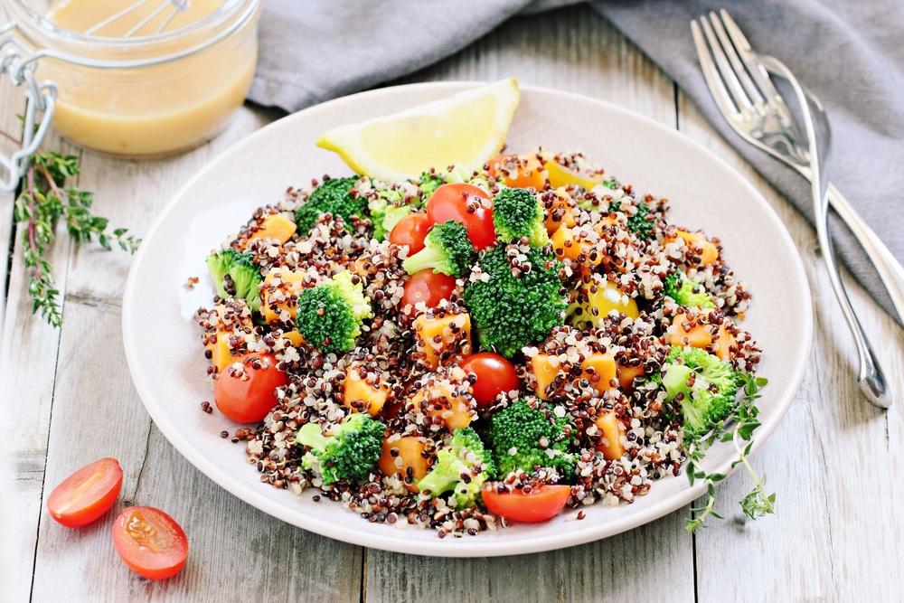 The Tish Kitchen | Roasted Veggie Quinoa Salad | Food Blogger