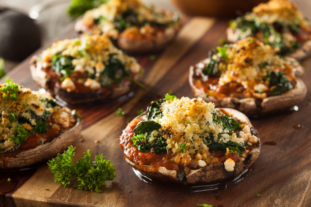 Crab & Spinach Stuffed Mushrooms | The Tish Kitchen | Food Blogger