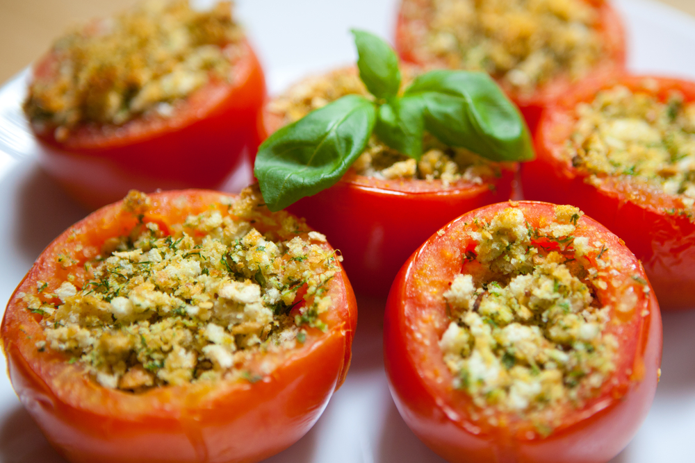 Tomatoes with Cheese, Roasted Peppers & Thyme | The Tish Kitchen | Food & Lifestyle Blogger