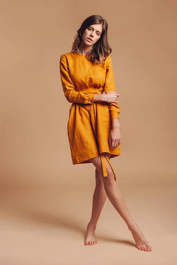 Mustard Linen Dress.jpg