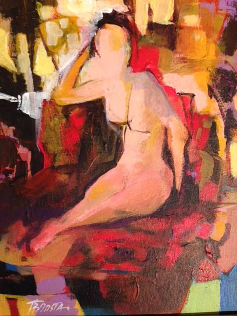 """""""Joana In The Morning""""  Acrylic on Canvas  14"""" x 11"""""""