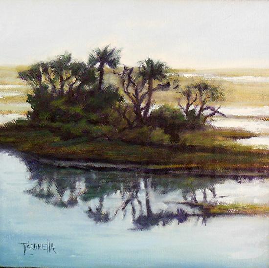 """""""Behren's View #10""""  Oil on Canvas  10"""" x 10"""""""