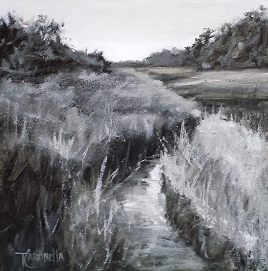 """Grey Creek""  Oil on Canvas  8"" x 8"""