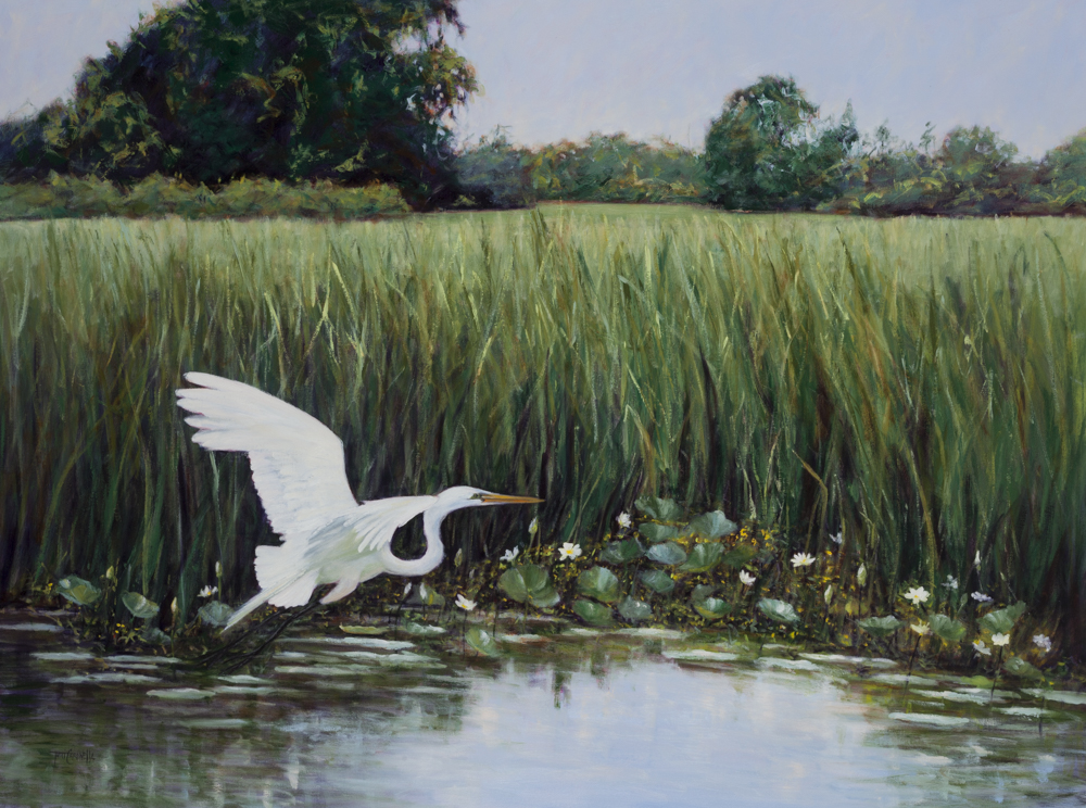 "Sold   ""Great White""  Oil on Canvas  36"" x 48"""