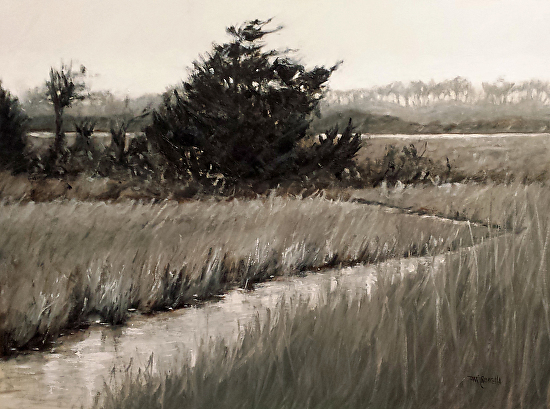 """Grey Marsh""  Oil on Canvas  18"" x 24"""
