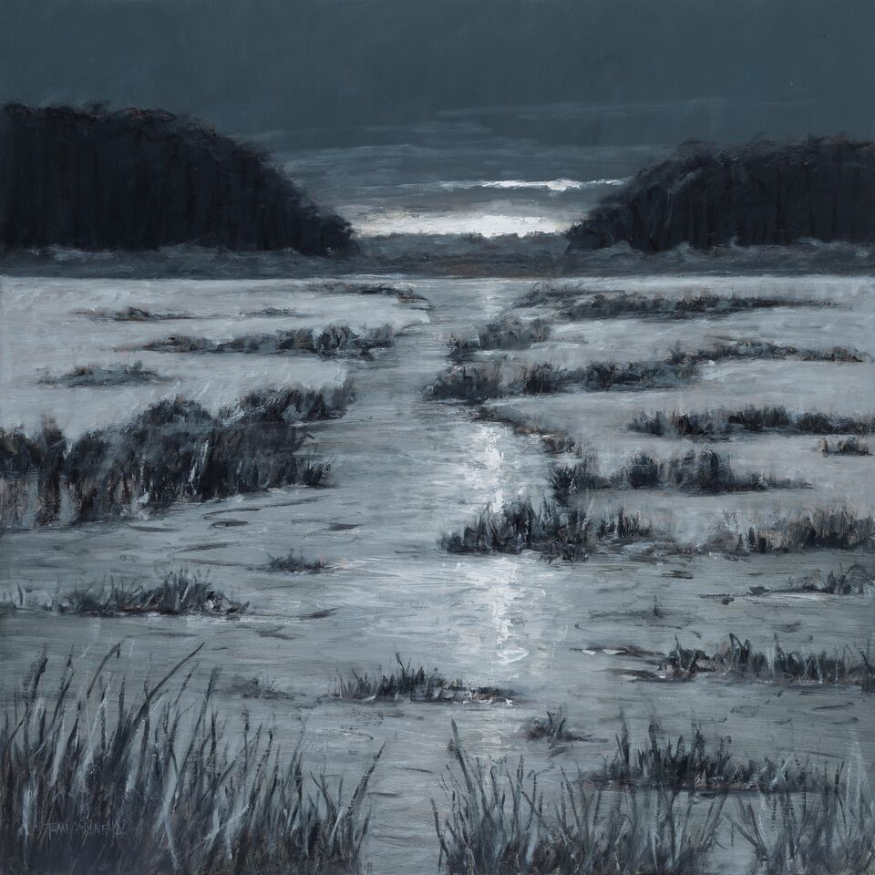 """Grey Tide"" (aka ""Noir"")  Oil on Canvas  24"" x 24"""