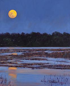 """Harvest Moon"" (Sky Series #11)  Oil on Canvas  24"" x 20"""