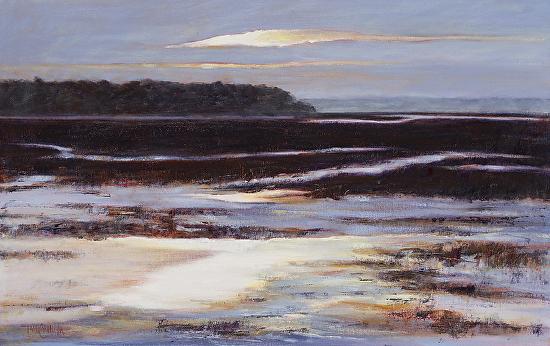 """Daybreak"" (Sky Series #10)  Oil on Canvas  14"" x 22"""