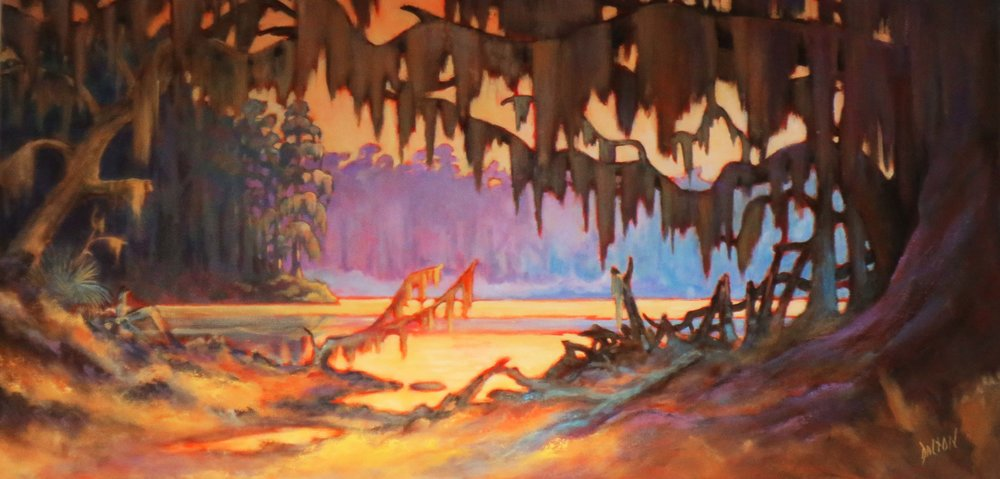 """Peaceful Lowcountry River""  Acrylic on Canvas  30"" x 60"""