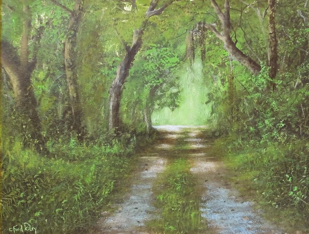 """Sold   """"Country Road""""  Oil on Panel  16"""" x 20"""""""