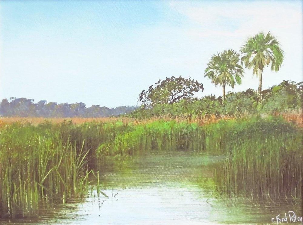 """""""Marshscape I""""  Oil on Panel  16"""" x 20"""""""
