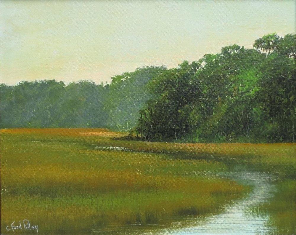 """Marshscape II""  Oil on Panel  16"" x 20"""