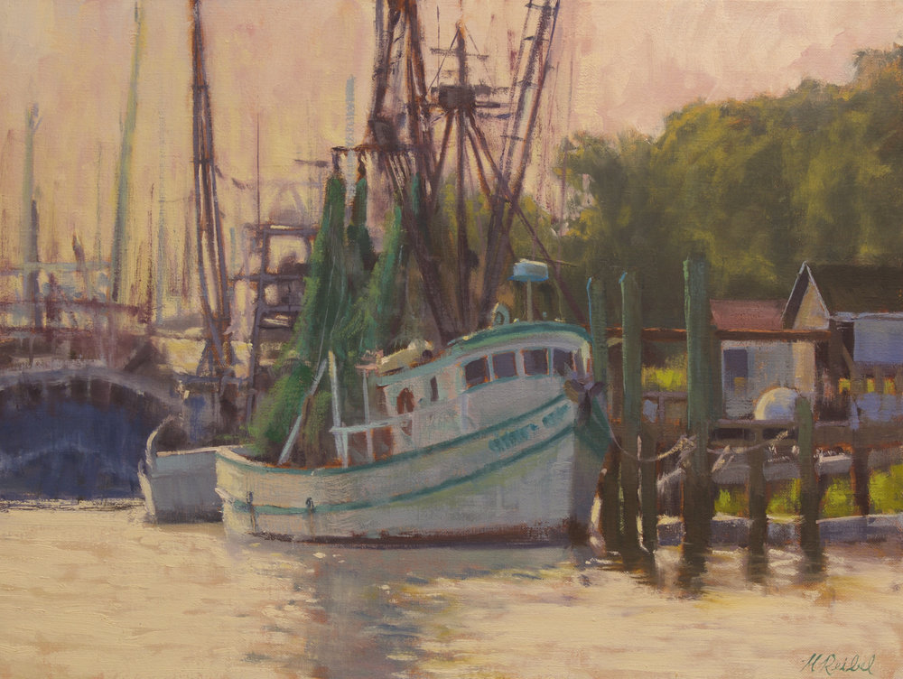 """Docked and Ready""  Oil on Linen  18"" x 24"""