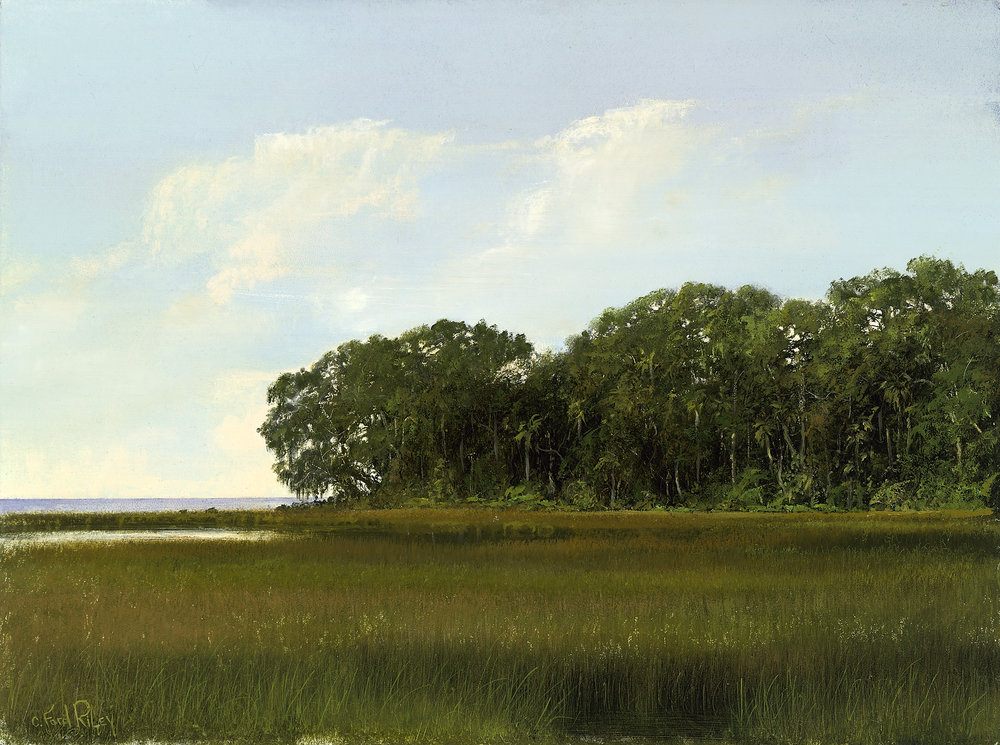 """""""Winter Marsh""""  Oil on Panel  18"""" x 24"""""""