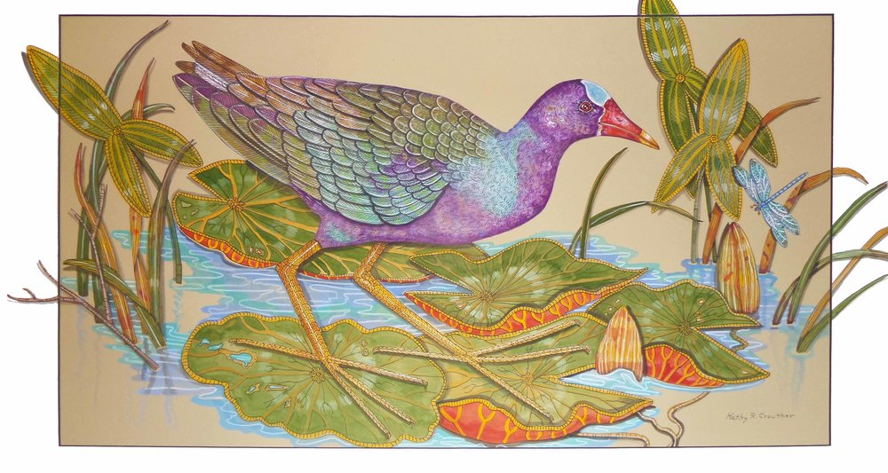 """Purple Gallinole""  Watercolor on Paper  27"" x 39"""