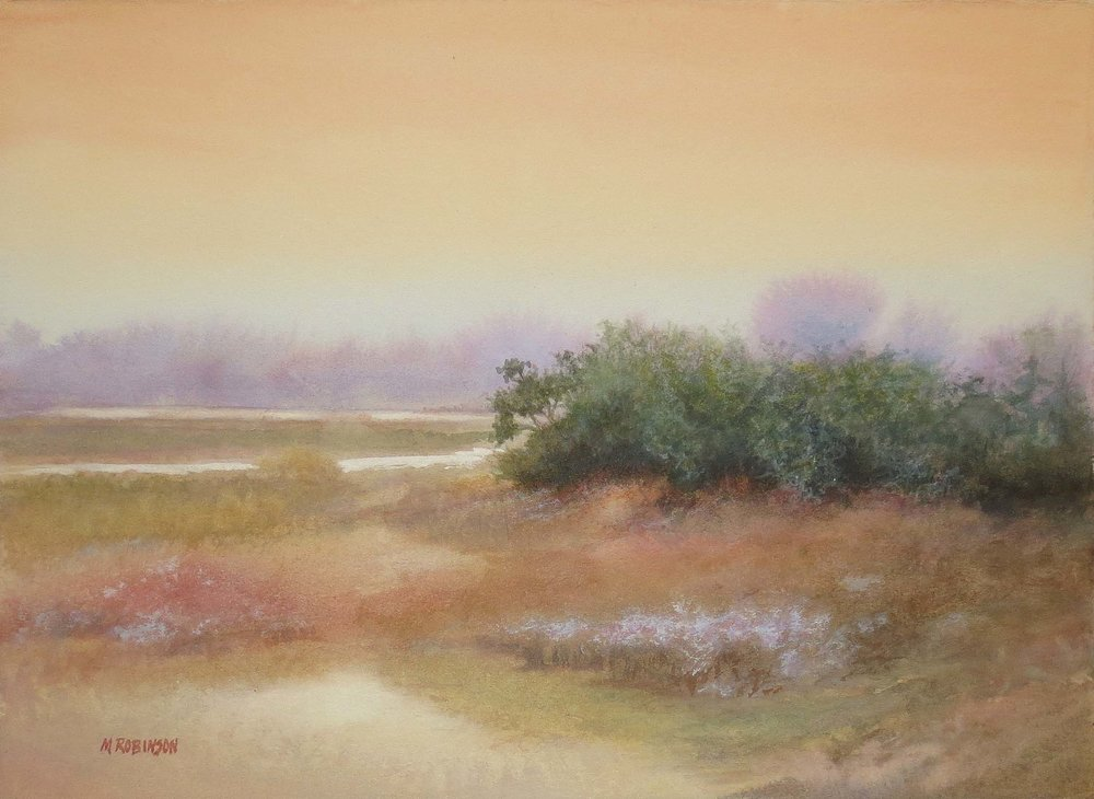 """Marsh In Bloom""  Watercolor on Paper  7.5"" x 10"""