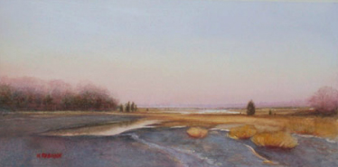 """Low Low Tide""  Watercolor on Paper  6"" x 12"""