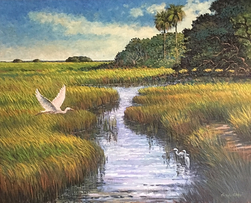 """King of the Low Country""  Oil on Canvas  24"" x 30"""