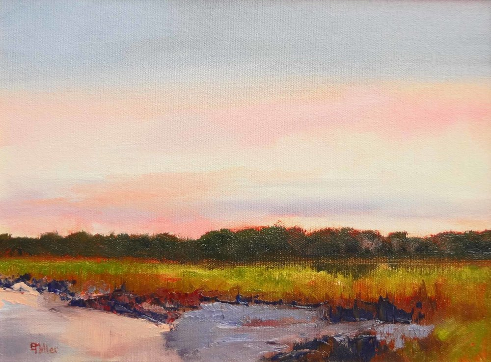 """Morning Lowtide""  Oil on Linen  9"" x 12"""