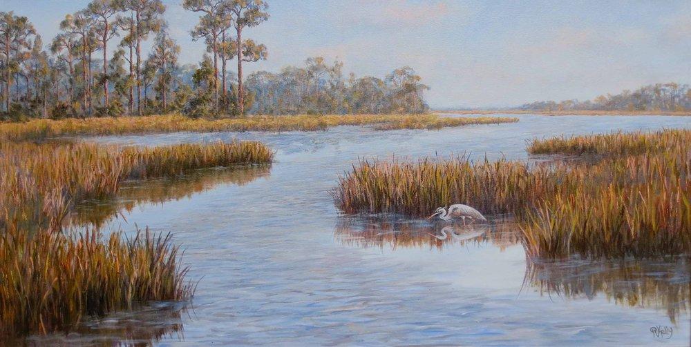 """""""Stillness""""  # 0216  Oil on Canvas  20.25"""" x 40"""""""