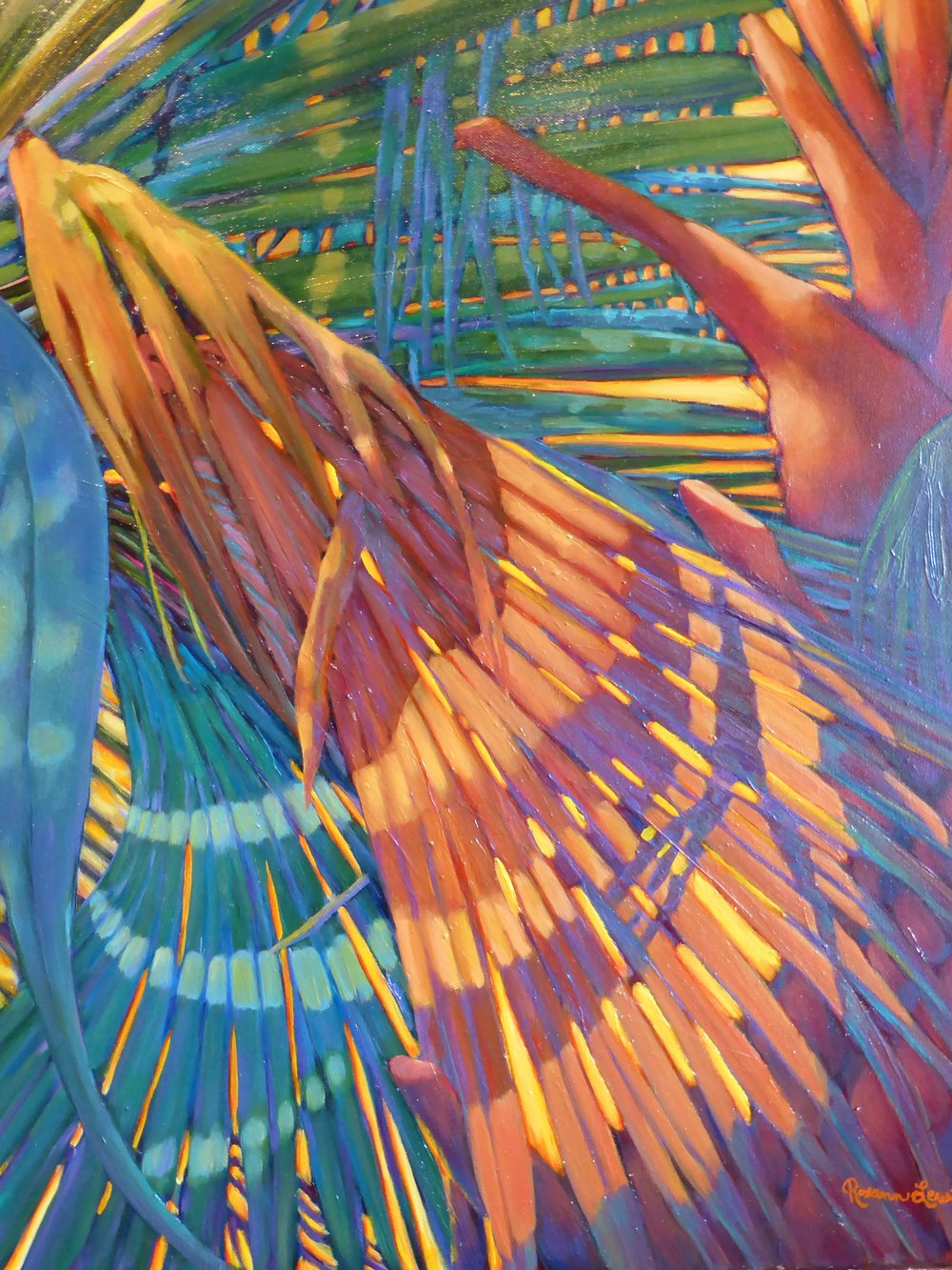 """Bright Fronds 2""  Oil on Canvas  30"" x 24"""