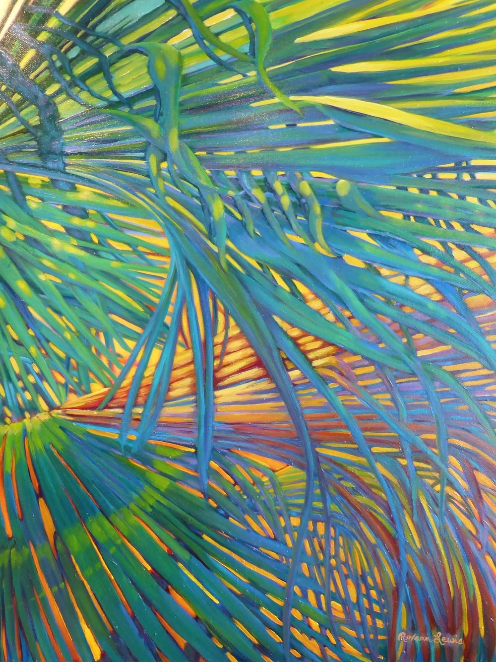 """Bright Fronds 1""  Oil on Canvas  30"" x 24"""
