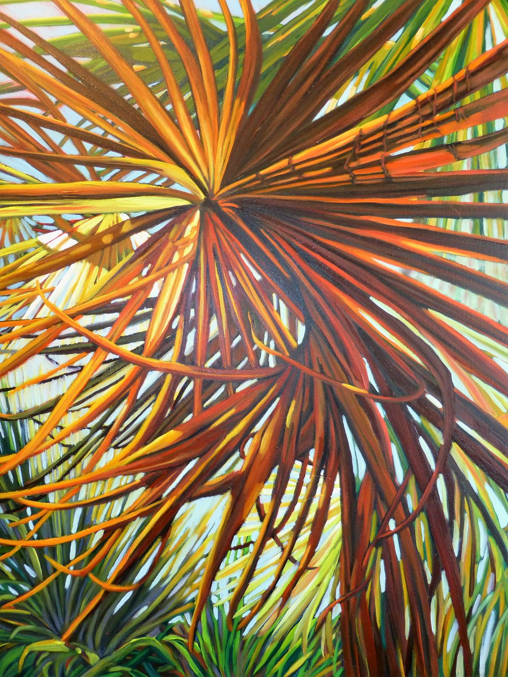 """Golden Palm's Spicy Sister""  Oil on Canvas  30"" x 24"""