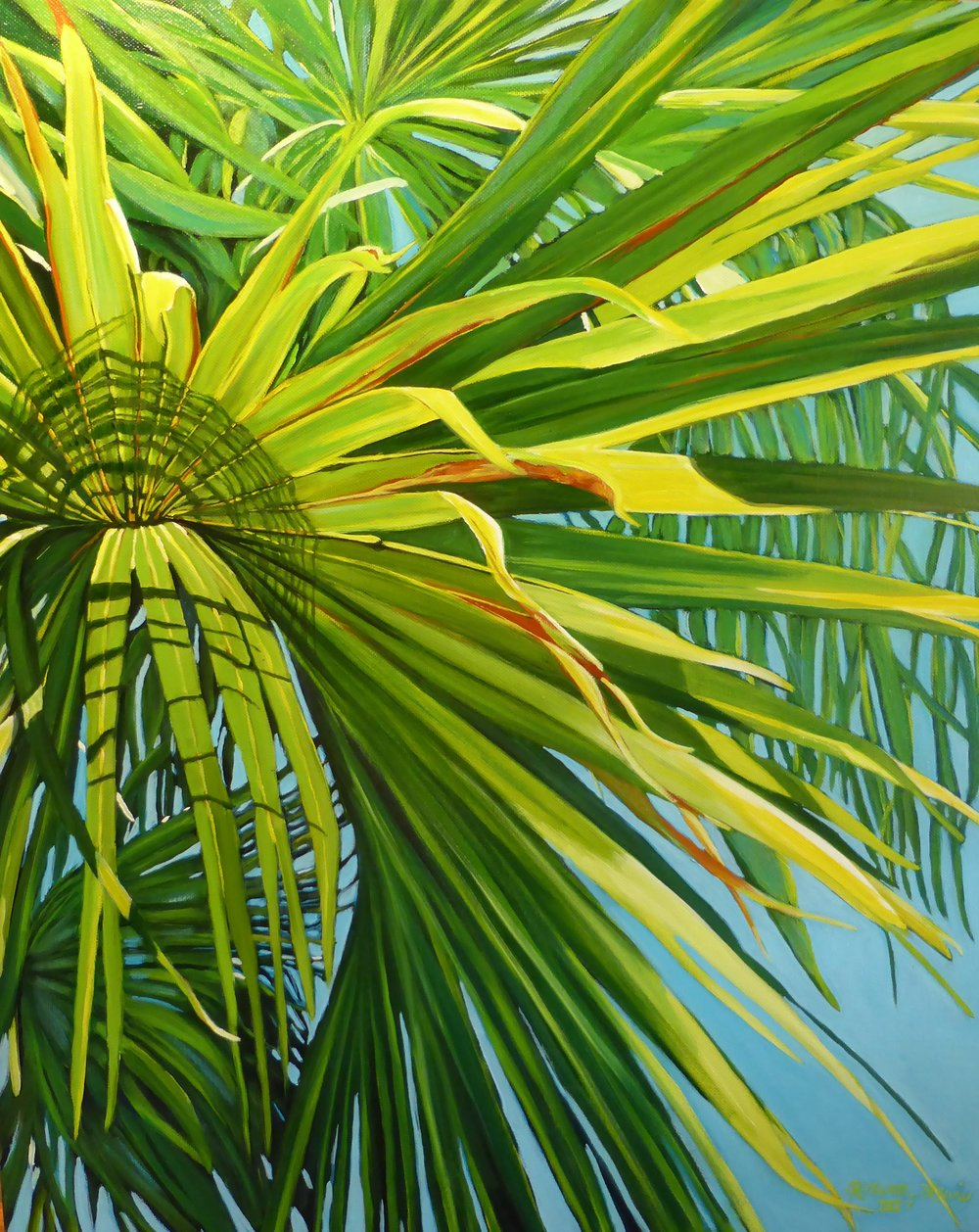 """Palm Frond 3""  Oil on Canvas  24"" x 20"""