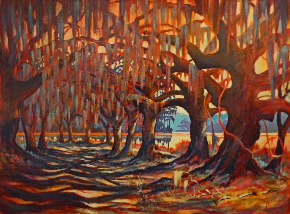 """""""Road to the River""""  Acrylic on Canvas  34"""" x 46"""""""
